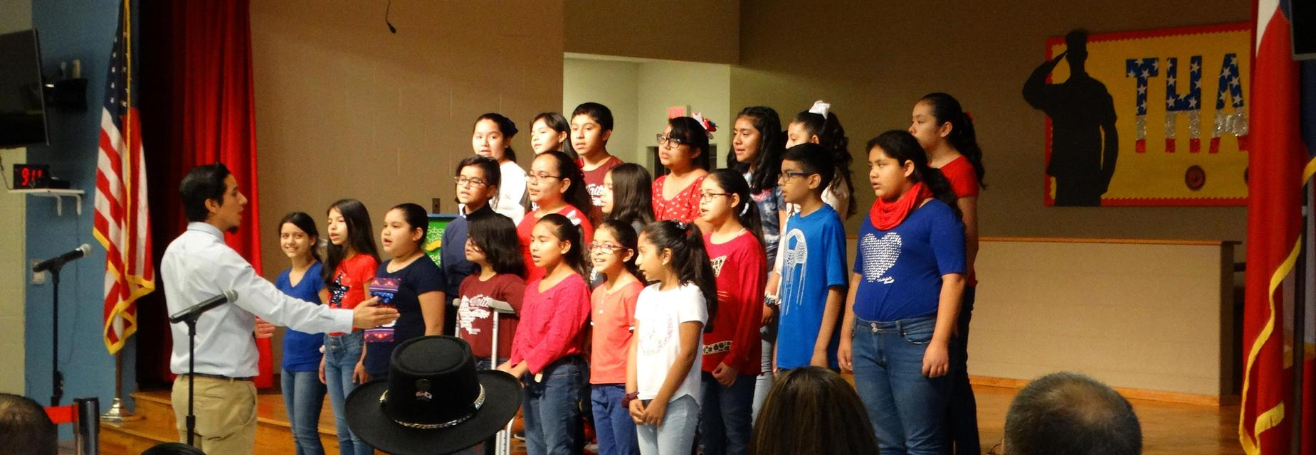 Choir performance for Veterans Day