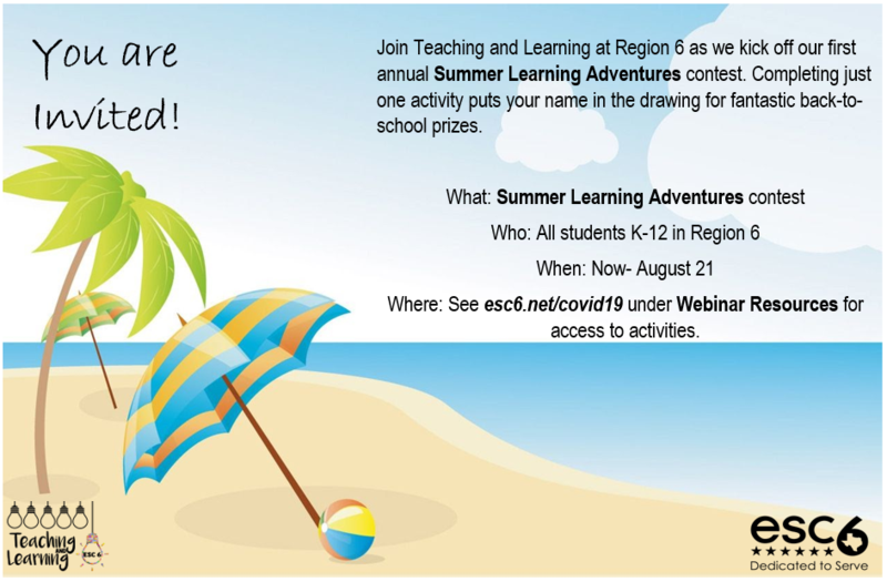 Summer 2020 Learning Adventures Thumbnail Image