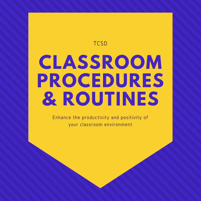 Classroom Procedures & Routines Badge
