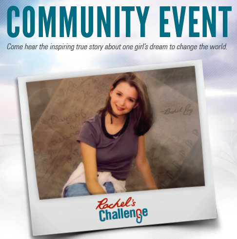 Photo of Rachel's Challenge Community Event Invite