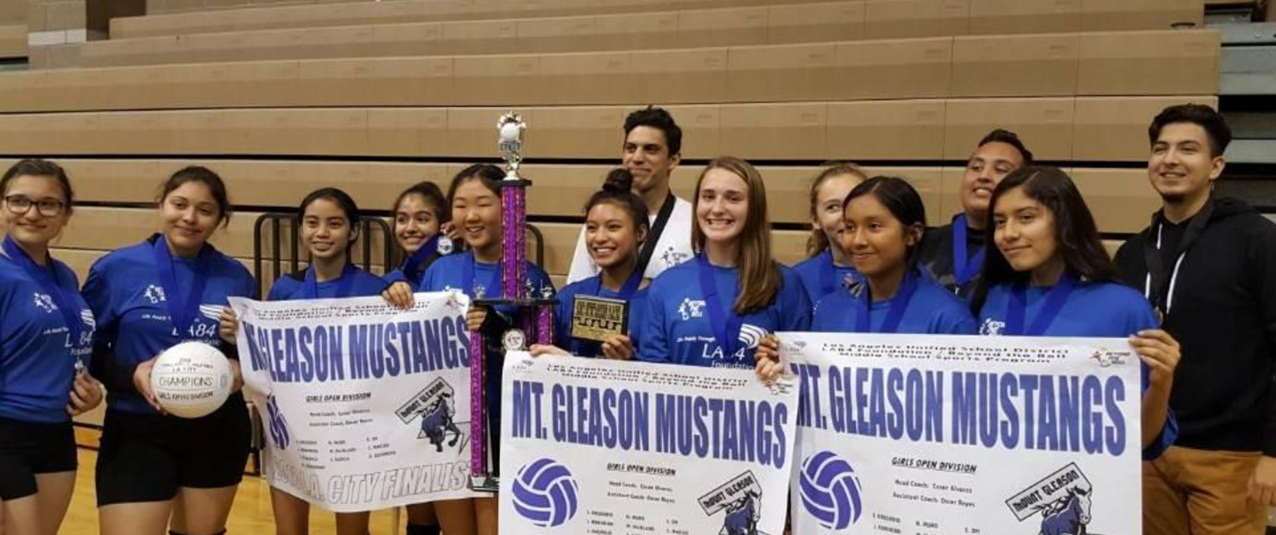 Mt Gleason VolleyBall District Champions and 2nd Place Valley Region Championship
