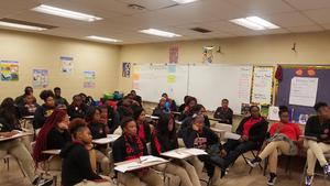 a photo of Baker High School Students in Financial Literacy Presentation at the school