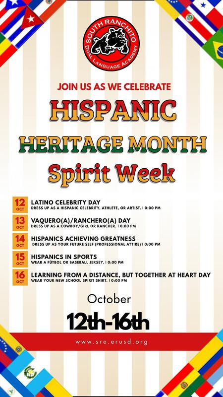 Hispanic Heritage Spirit Week E
