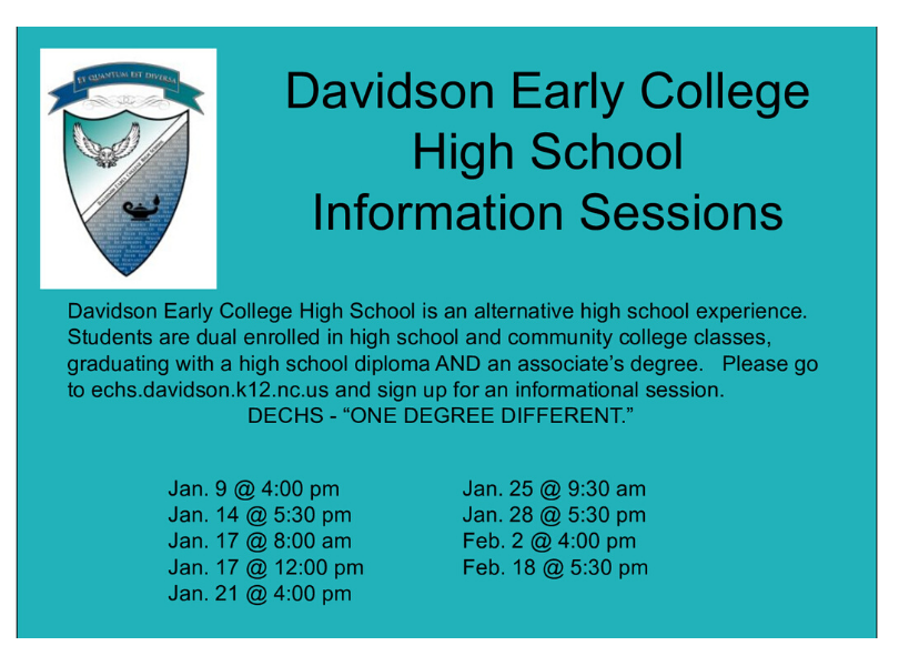 DC Early College Info. Sessions