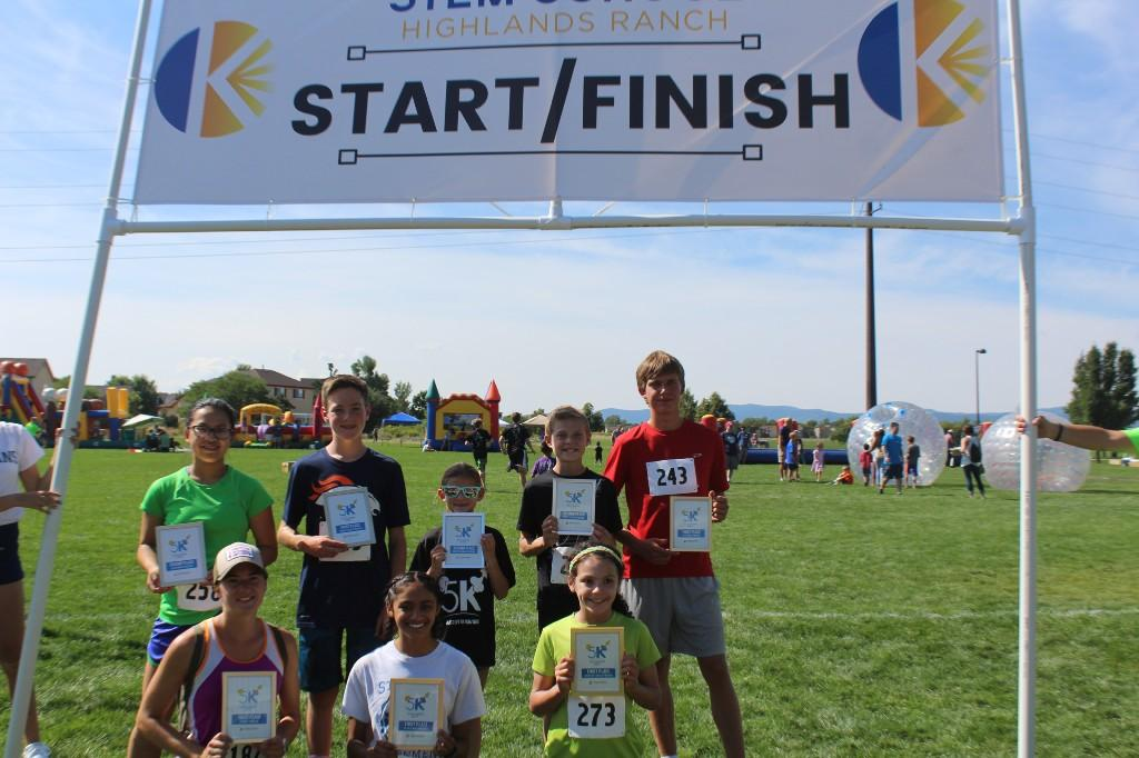 Congratulations to the winners of the 5K STEM Blast Off race! Photo by student Grace Holland
