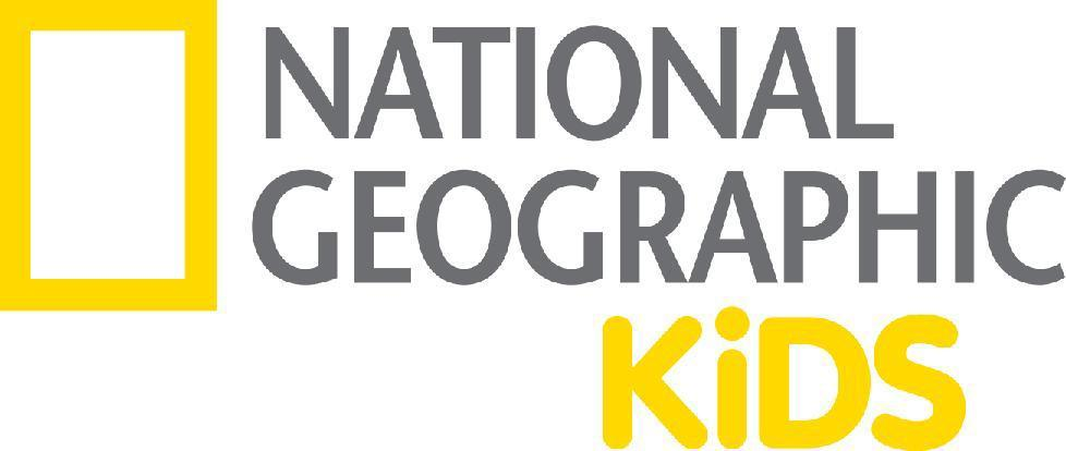 National Geographic Kids logo with yellow square