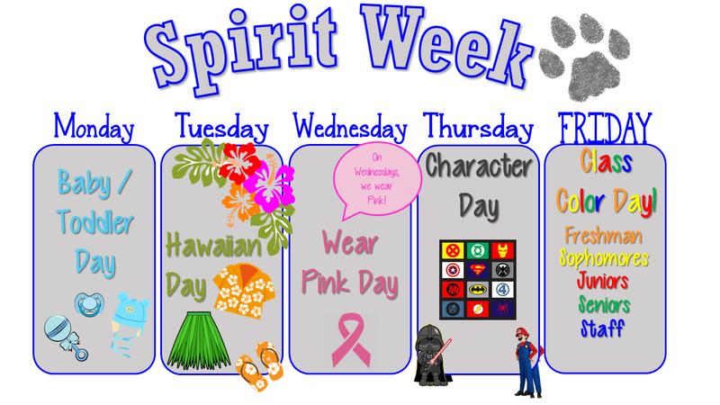 Spirit Week Text