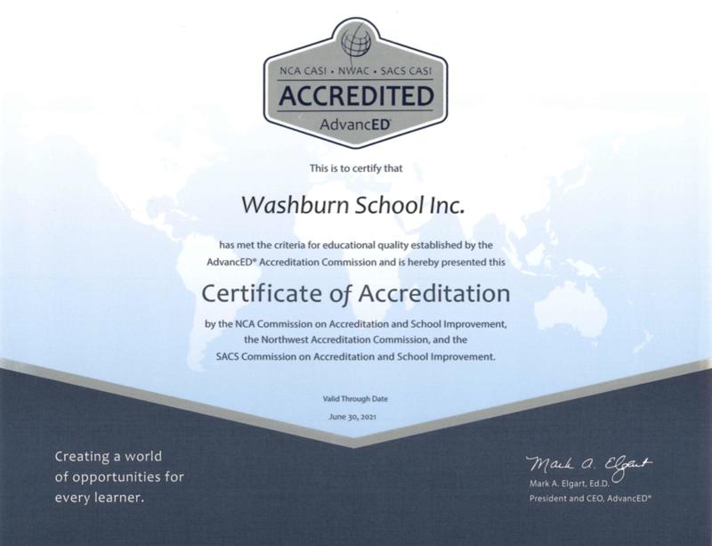 Washburn School Estará Pasando Por el Arduo Proceso de Renovación de la Acreditación Nacional y Internacional de Cognia (anteriormente AdvanceEd) y sus regiones educativas en el 2021 Featured Photo