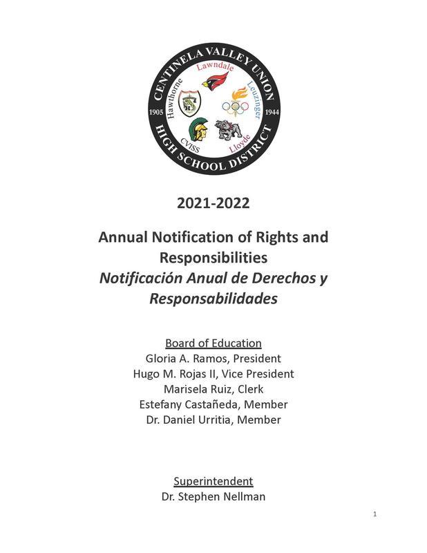 CV Annual Notification