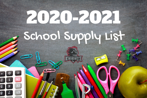 School Supply Lists 2020-2021