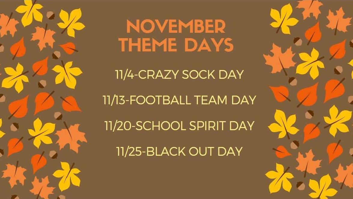 November School Spirit Days