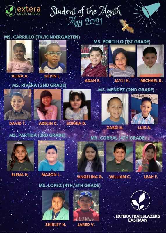 Student of the Month (May) / Estudiante del Mes Featured Photo