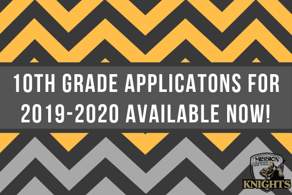 10th Grade Applications for 2019-2020 Available Now! Click Here! Featured Photo