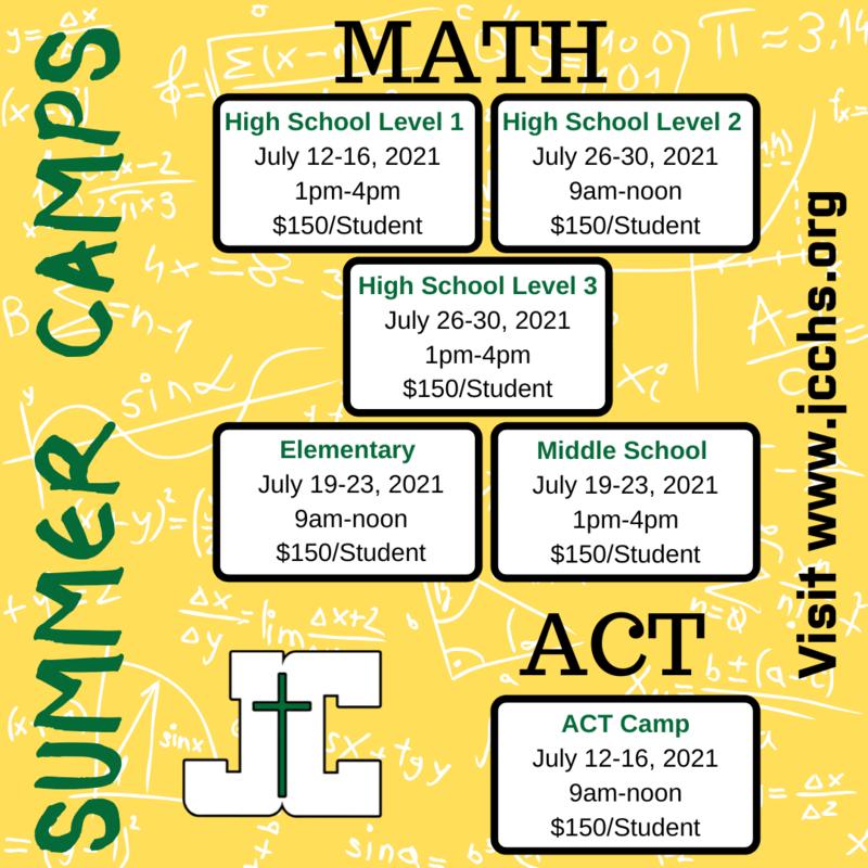 JCCHS Summer Math Camps & ACT Prep! Featured Photo