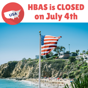 HBAS Closed on 4th of July