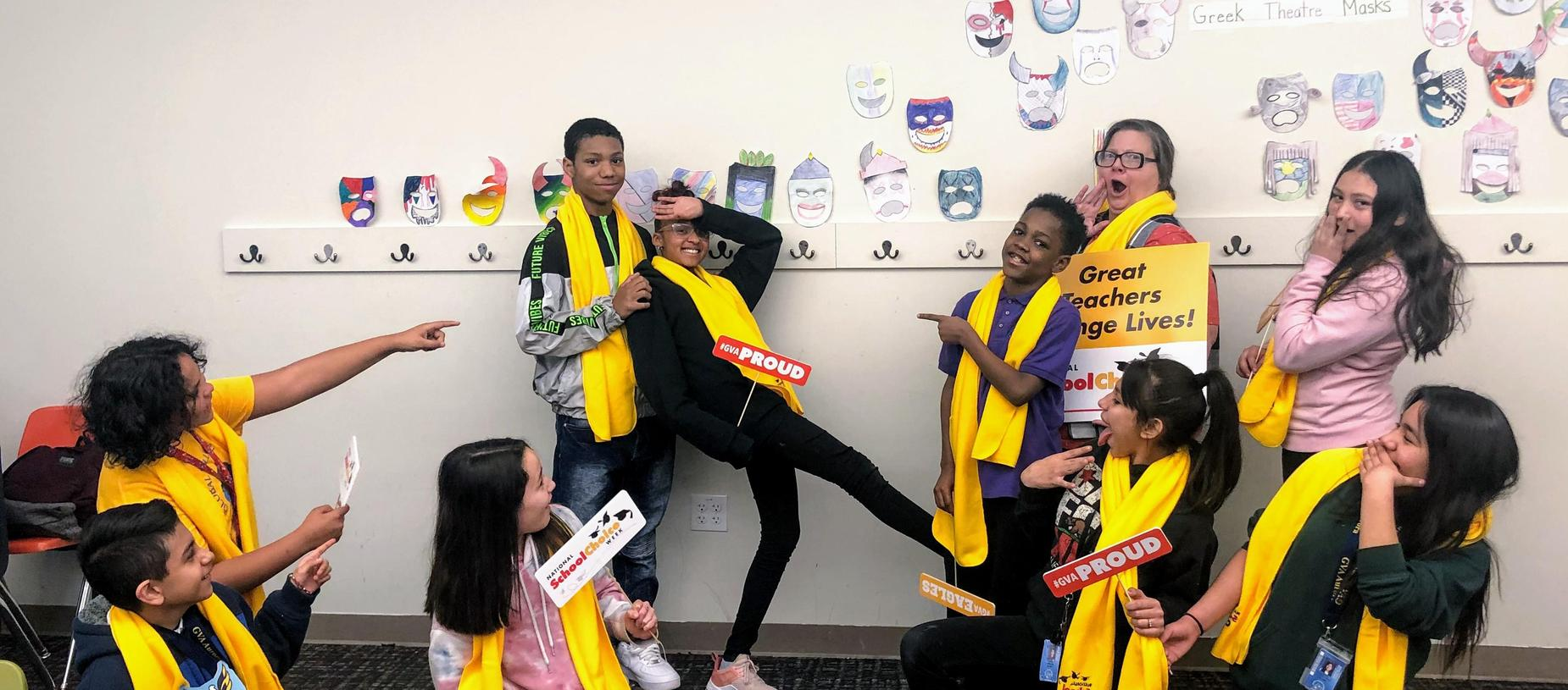 School Choice Week-Ms. Maxwell's 6th Grade Drama Class