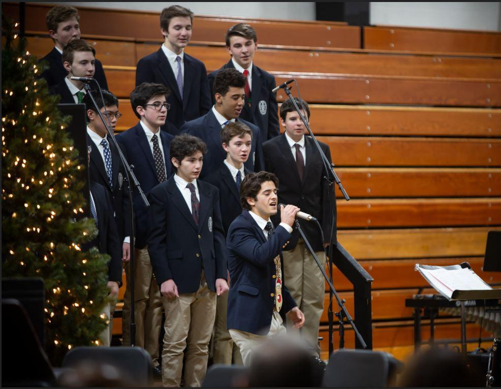 Mark Grasso '20 Singing At A Holiday Concert