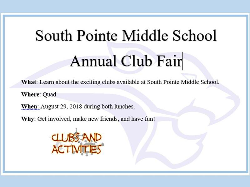 SMPS ~ Annual Club Fair,  August 29 Featured Photo