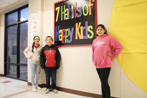 Alton Elementary students that helped with the ceiling tiles project.