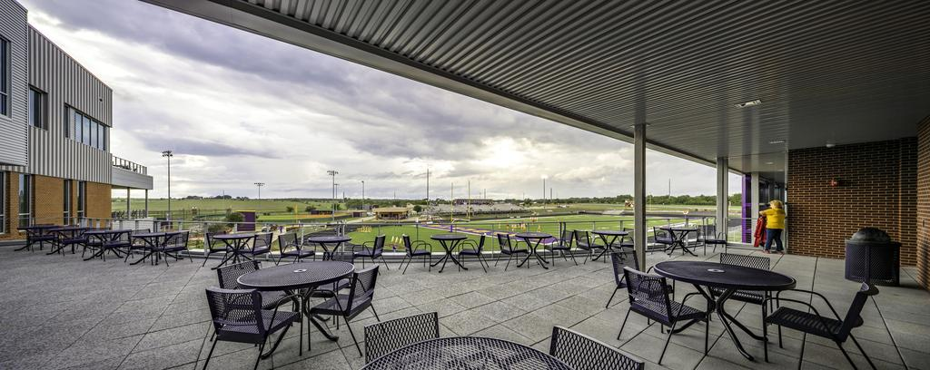 View of football field from rear patio