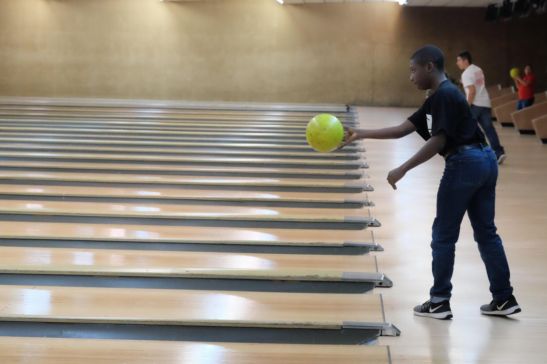 student bowling