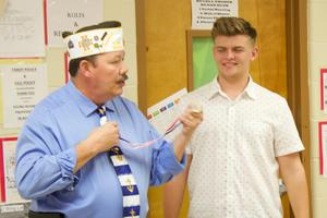 VFW Ty Teel and SVHS senior Koby Suggs