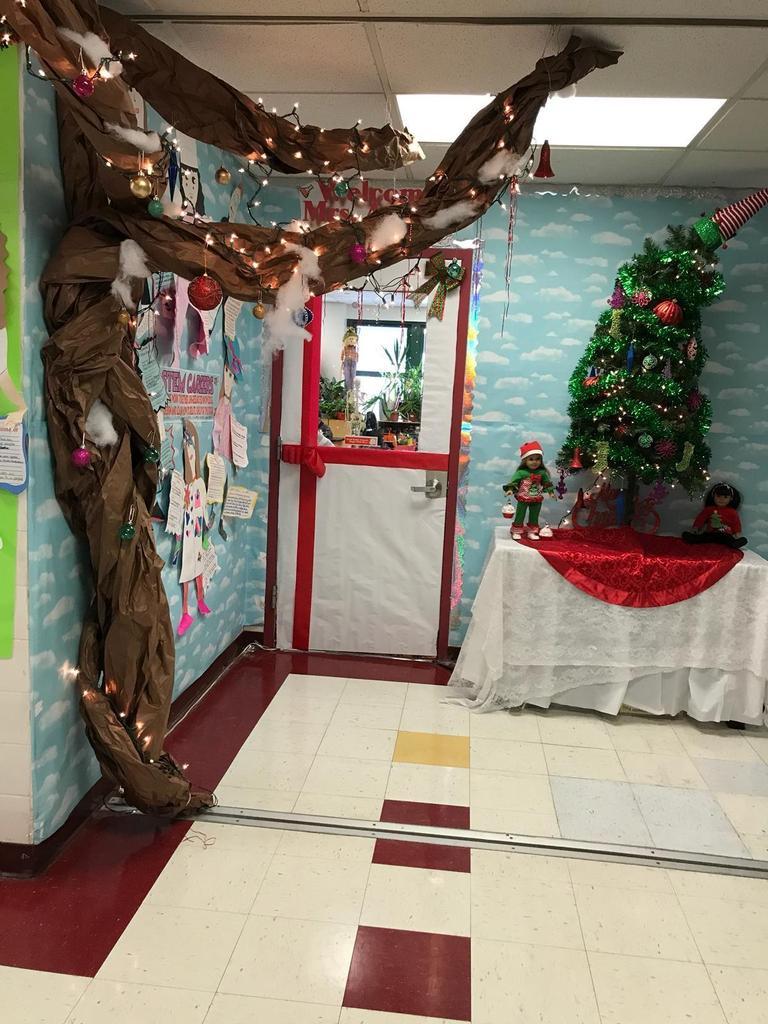 winter wonderland classroom corner