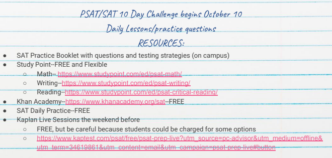 PSAT/SAT 10 Day Challenge