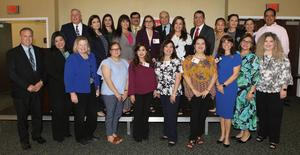 Photo 1: The Educational Results Partnership recognizes Edinburg CISD teachers, principals, staff and administrators during the Texas Honor Roll awards ceremony at the Knapp Conference Center in Weslaco.