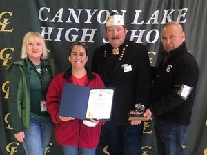 CLHS VFW Teacher of the Year honoree 2019