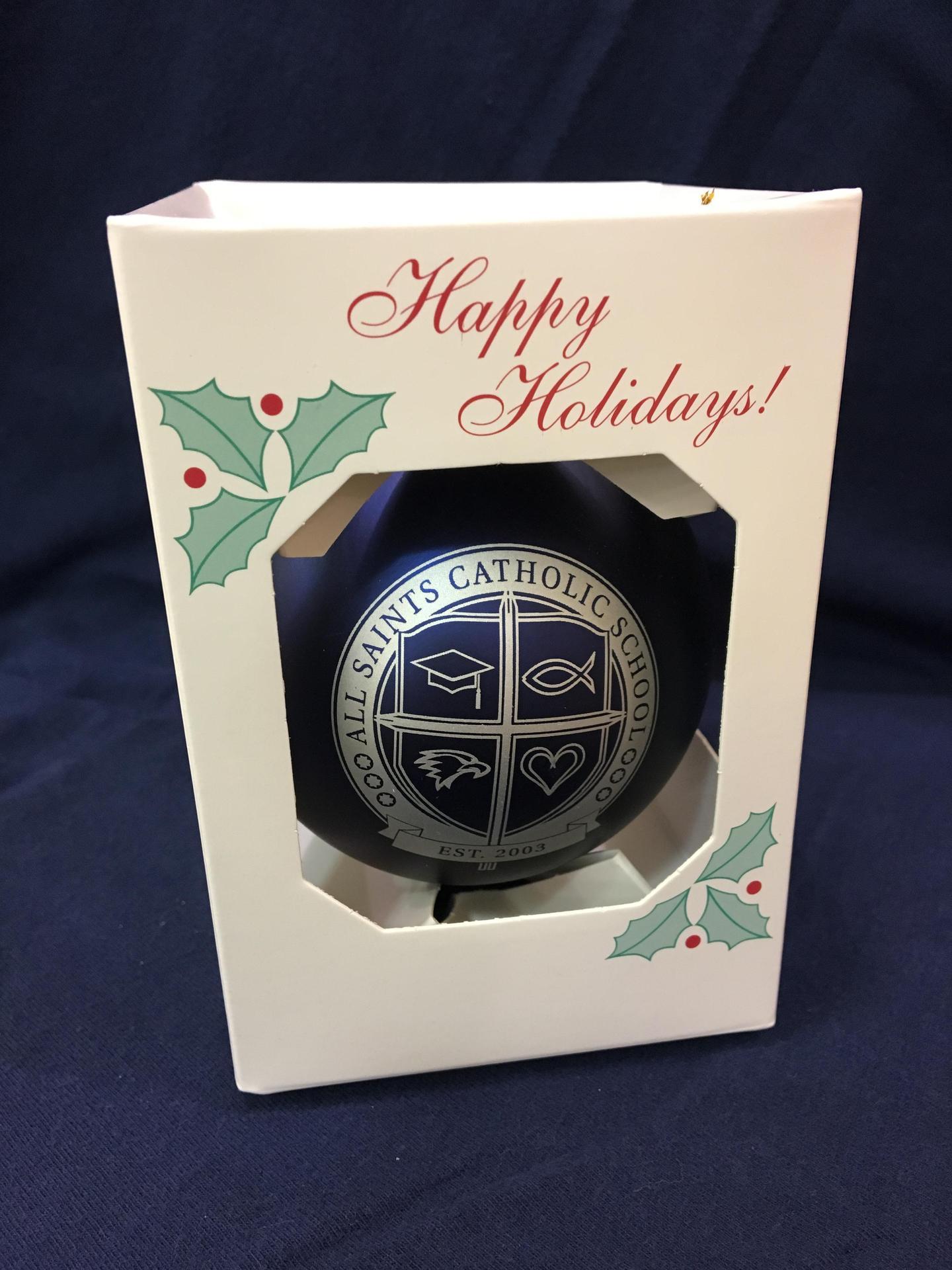 Navy Shatterproof Christmas Ornament