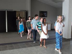 Fifth graders attended the awards ceremony;
