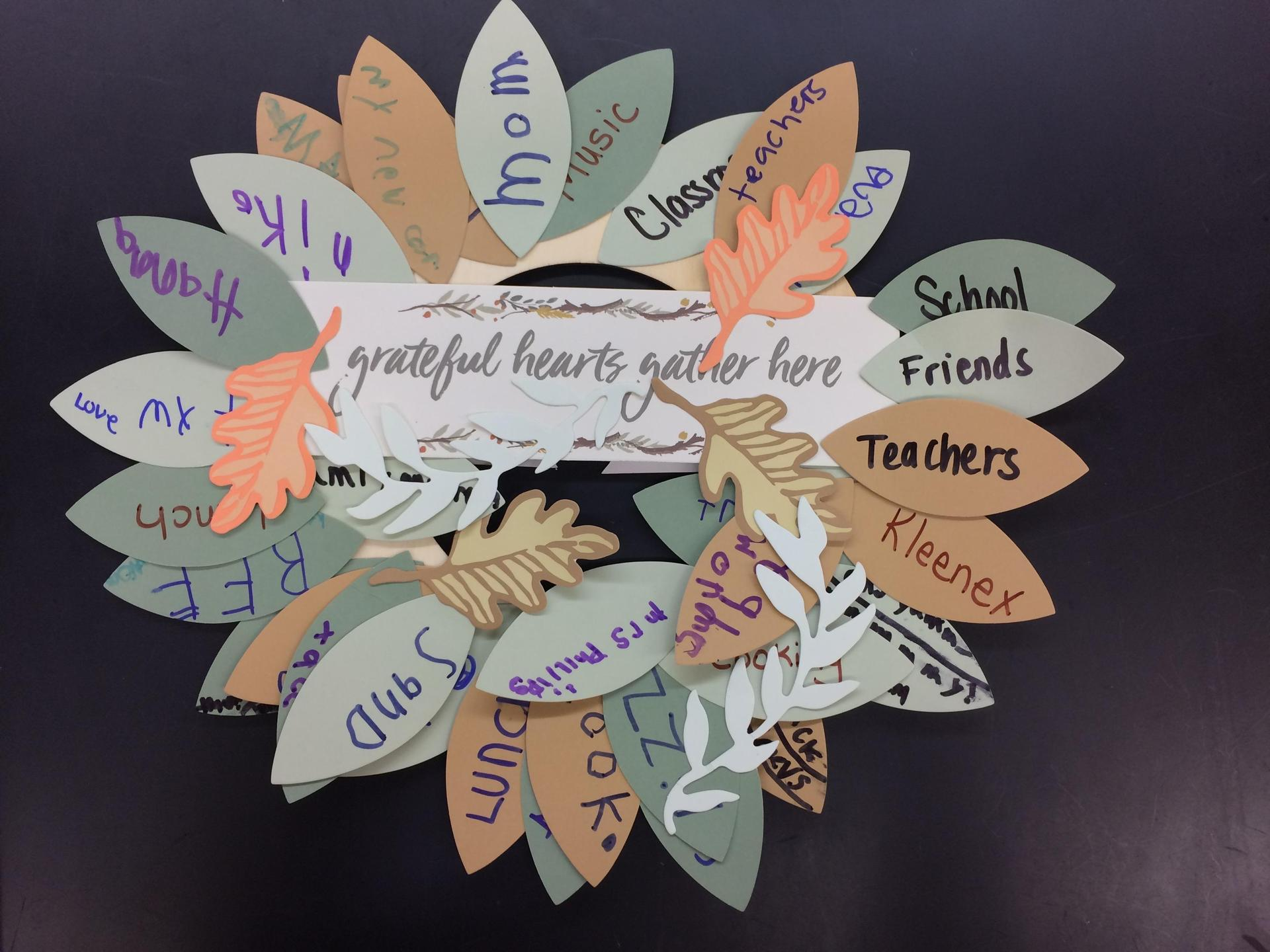 STEPS Class Thankful Wreath Pic 2