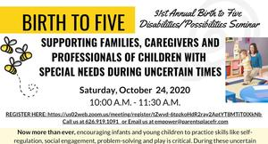Virtual workshop to support families, caregivers and professionals of children with special needs during uncertain times.