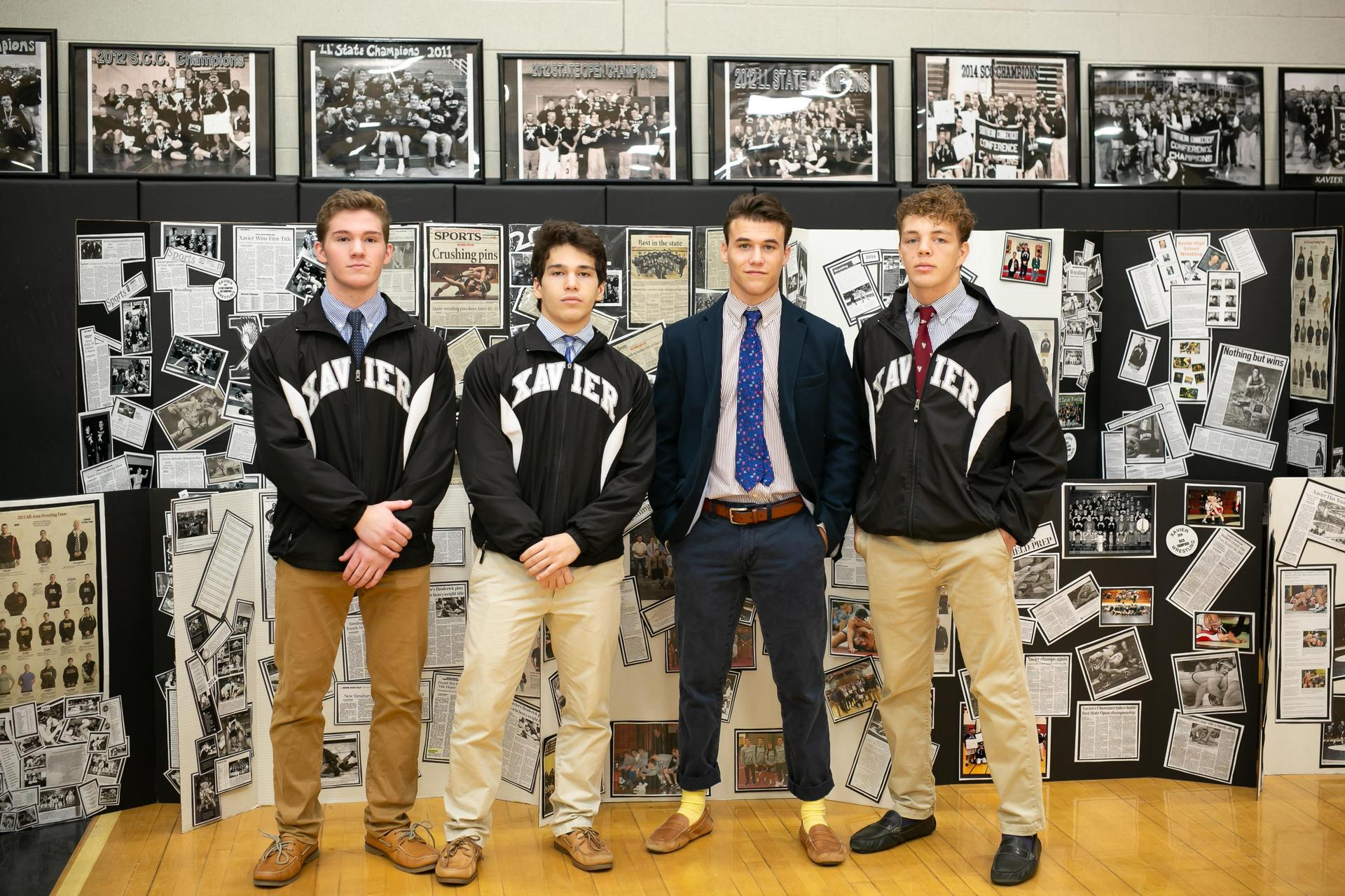 Xavier wrestlers at Open House