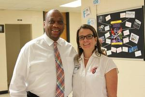 LJH Principal Frank Brown and Counselor Aimie Patrick