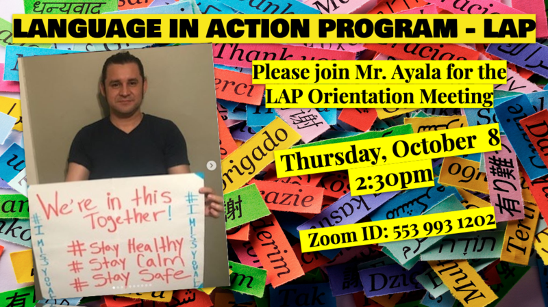 LAP Orientation Meeting : October 8, Thursday Featured Photo