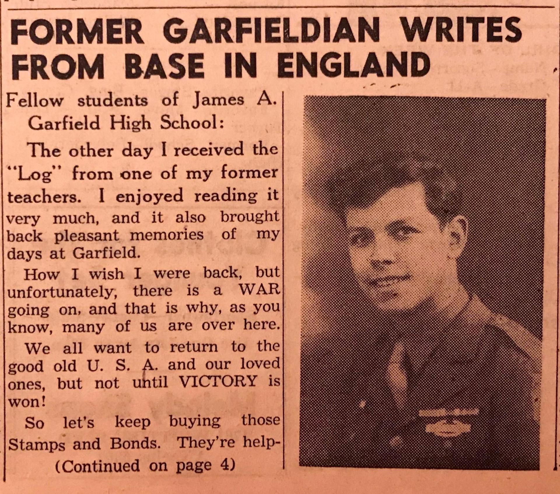 Garfieldian at Base in England
