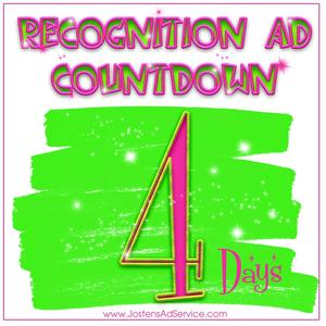 Picture announcing 4 days left to place yearbook ads.