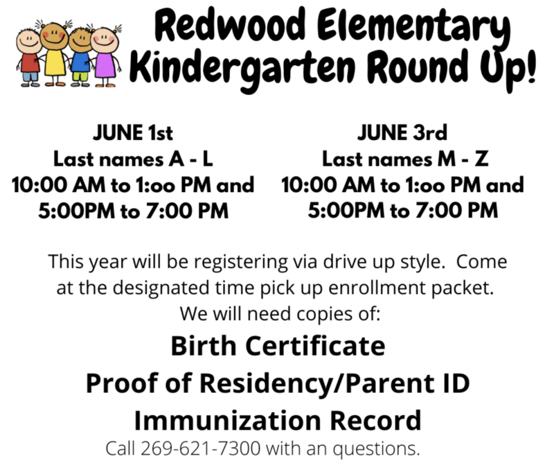 Redwood Elementary Kindergarten Round Up! Thumbnail Image