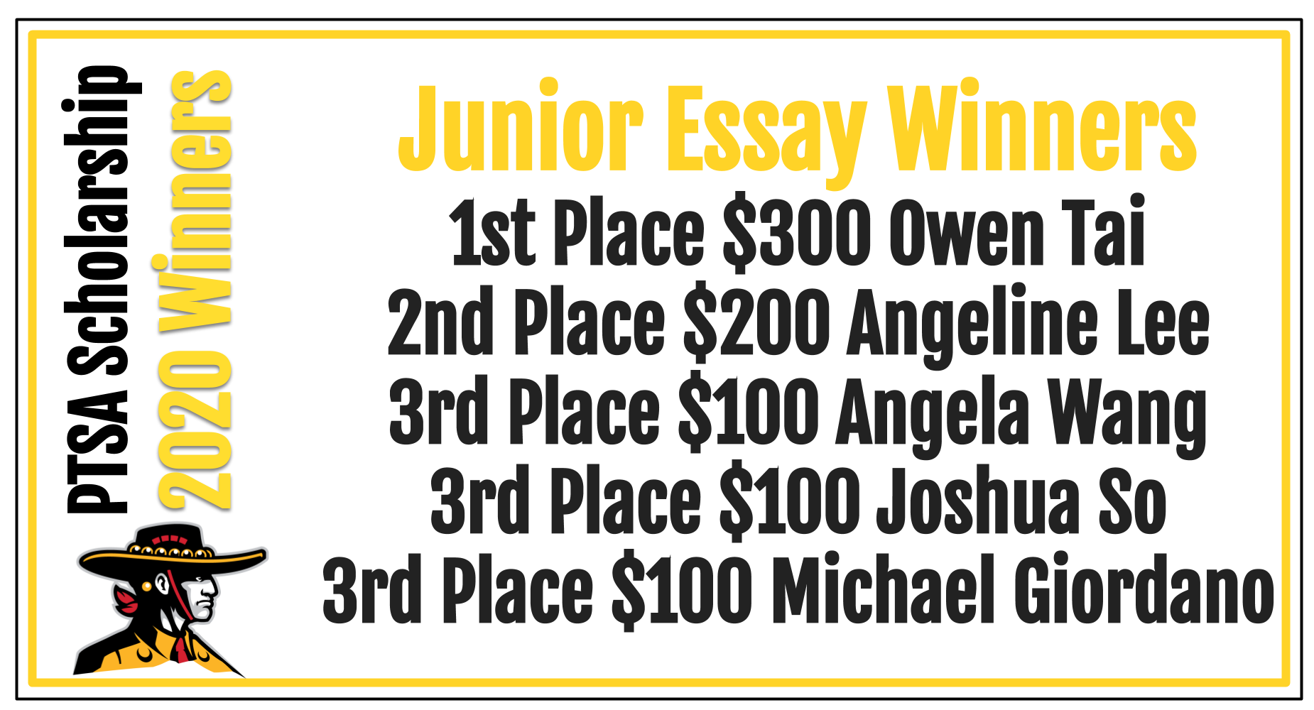 Junior Essay Winners