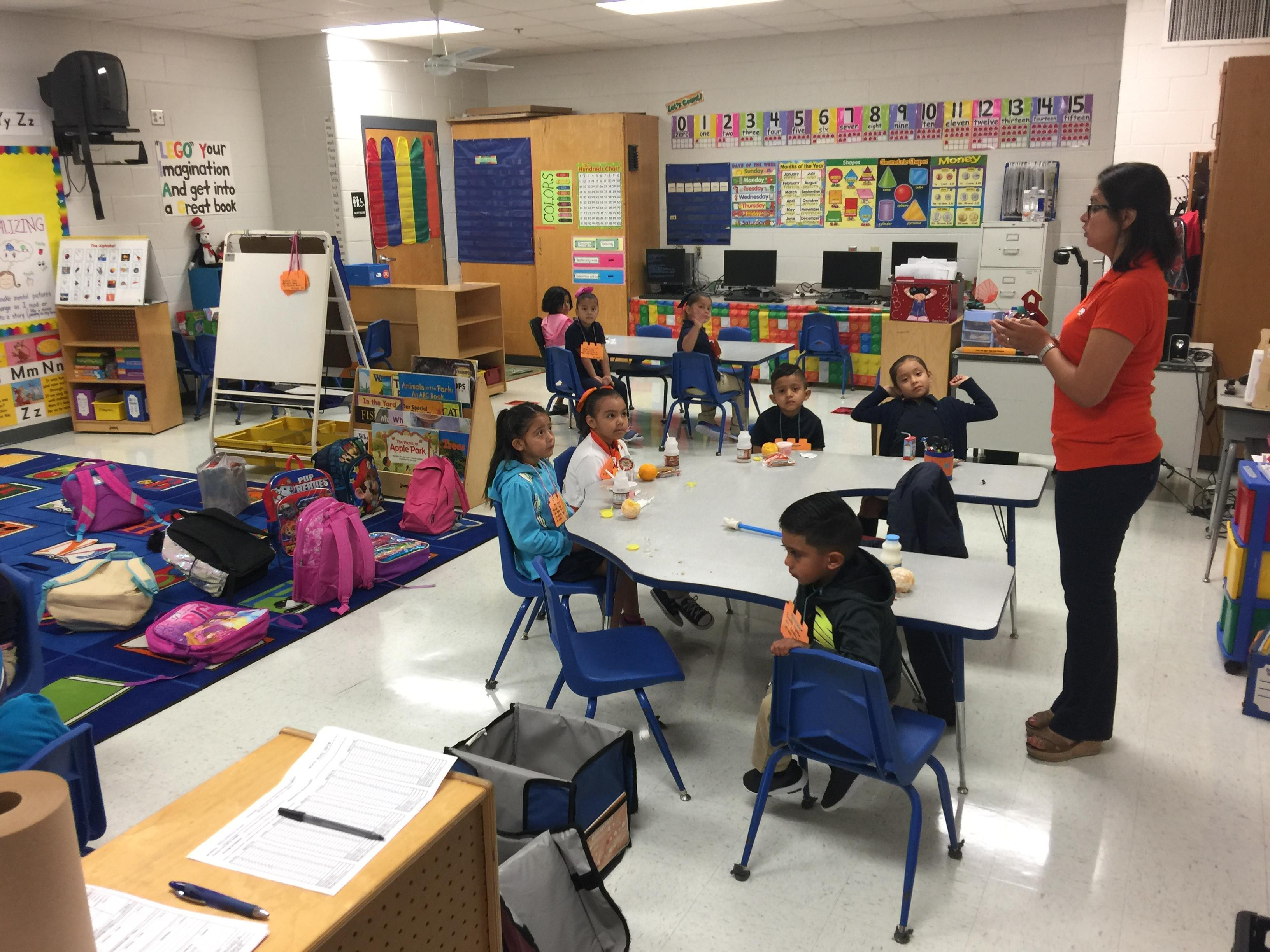 saldana's class on first day of school