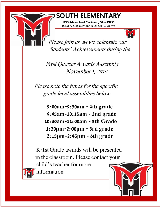 awards assembly flyer