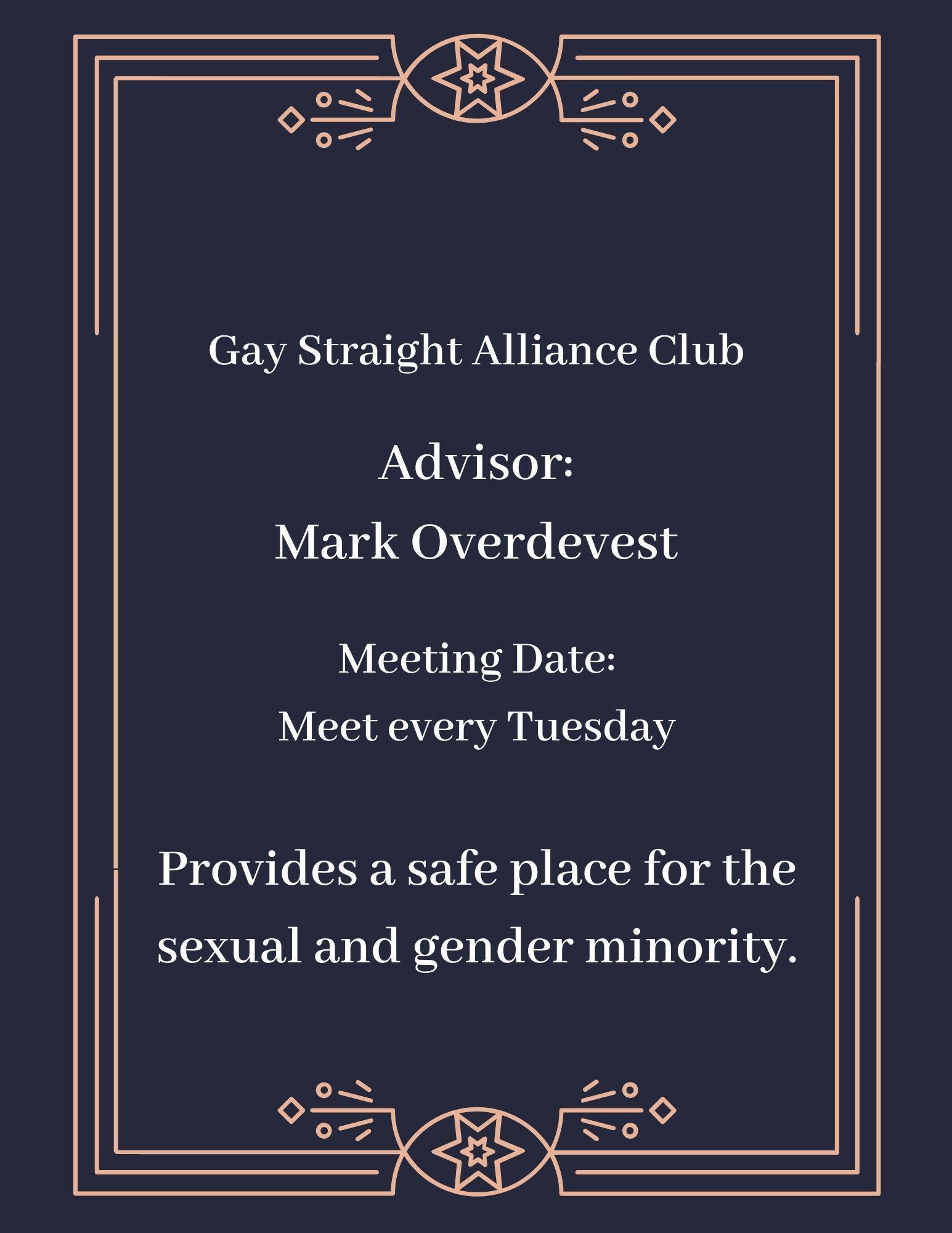 Gay Straight Alliance Club