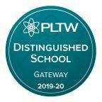 PLTW Gateway Distinguished School Badge