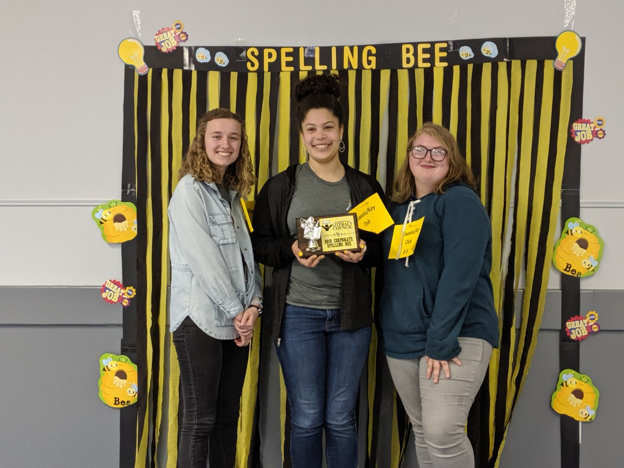 Key Club spelling bee team
