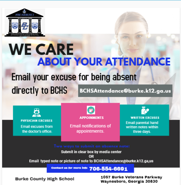 Info graphic for submitting attendance