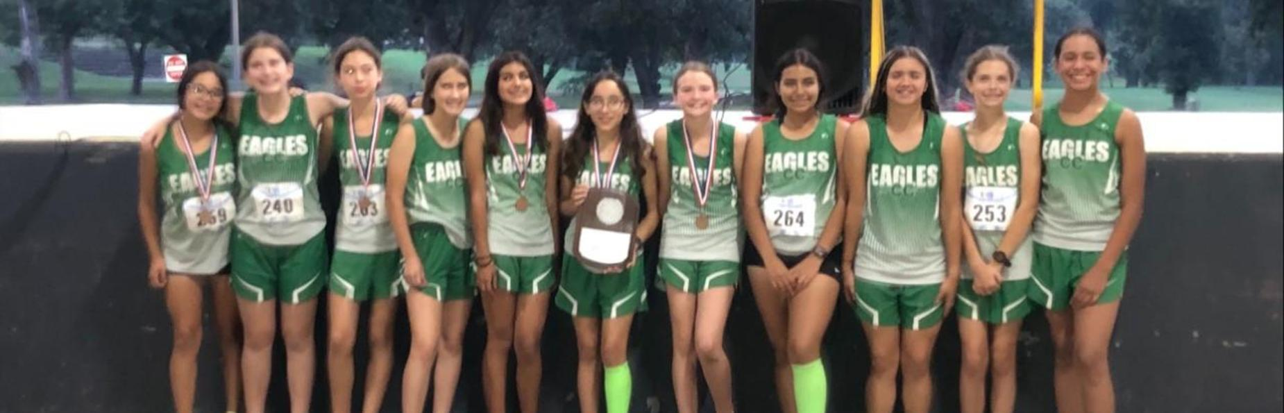 8th grade Girls' Cross Country District Champions