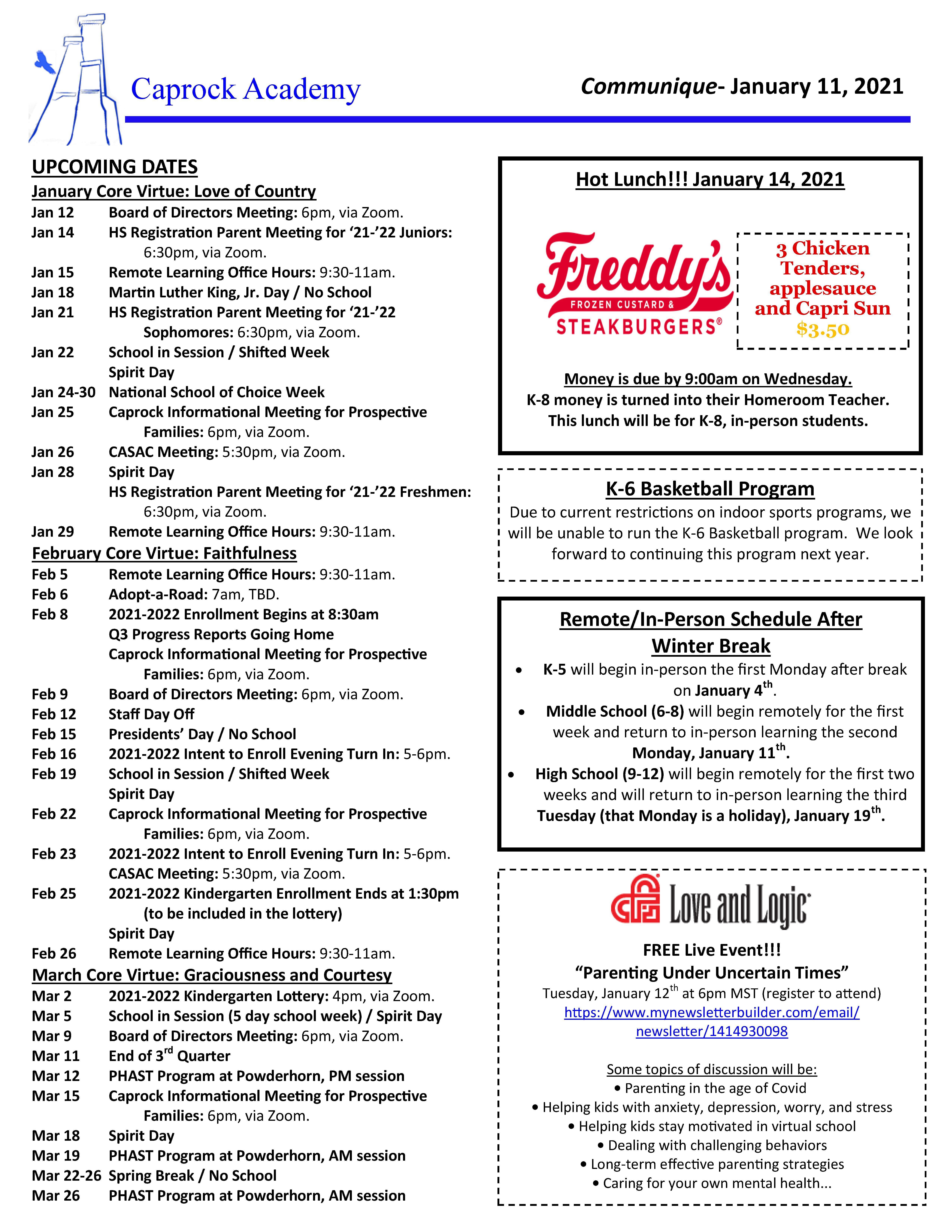 CA Communique 1-11-2021 page 1