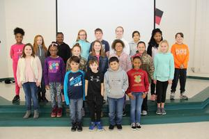 "Twenty B-L Elementary School students were recently selected by the school's faculty members as displaying the character trait of ""Cooperation."""